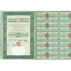 Djibouti - Comp. Europ. Immo. et Comm. - 2200 francs - 1962 - Spécimen - SUP+