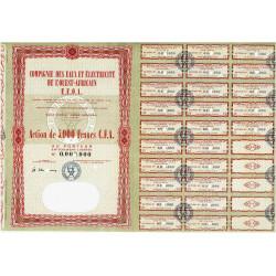 Sénégal - Comp. Eaux Elec. Ouest Afr. - 5000 francs CFA - 1962 - Spécimen - SUP+