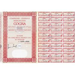Sénégal - Comp. Gén. Immob. - 5000 francs CFA - 1962 - Spécimen - SUP+