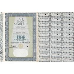 75 - Paris - Au bon marché - 100 NF - 1962 - Spécimen - SUP+