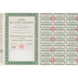 75 - Paris - Banque de l'Union Parisienne - 100 NF - 1962 - Spécimen - SUP+