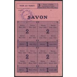 Rationnement - Savon - 1941 - Vermand (02) - Etat : SUP+