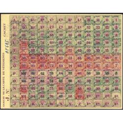 Rationnement - Vêtement - 1944 - Catégorie J - Vermand (02) - Etat : NEUF