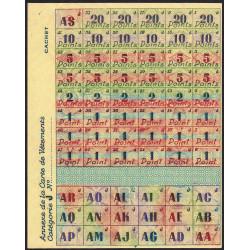 Rationnement - Vêtement - 1946 - Catégorie J - Vermand (02) - Etat : NEUF