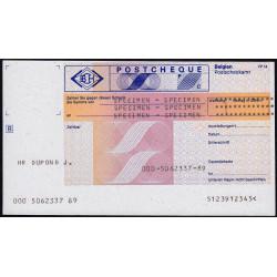 Belgique - Postchèque spécimen en allemand - 1980 - Etat : SPL