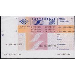 Belgique - Postchèque spécimen en français - 1980 - Etat : SPL