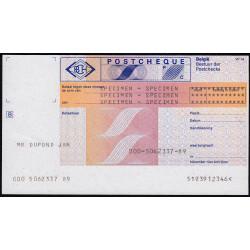 Belgique - Postchèque spécimen en néerlandais - 1980 - Etat : SPL