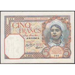 Algérie - Pick 77b - 5 francs - 19/02/1941 - Etat : SUP