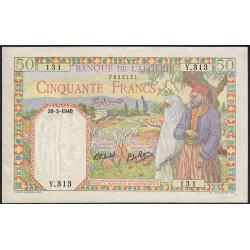 Algérie - Pick 84 - 50 francs - 30/03/1940 - Etat : SUP+