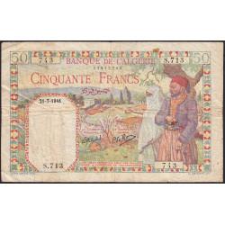 Algérie - Pick 84 - 50 francs - 21/07/1941 - Etat : TB