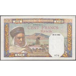 Algérie - Pick 85_1 - 100 francs - 1941 - Etat : SUP