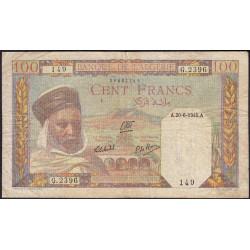 Algérie - Pick 85_2 - 100 francs - 20/06/1945 - Etat : TB