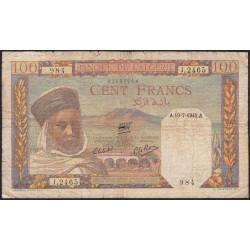 Algérie - Pick 85_2 - 100 francs - 19/07/1945 - Etat : B