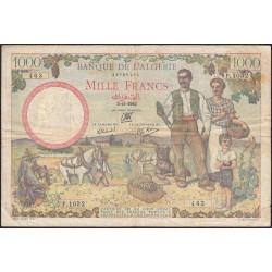 Algérie - Pick 86 - 1'000 francs - 1942 - Etat : TB+