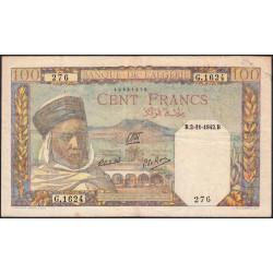 Algérie - Pick 88 - 100 francs - 02/11/1942 - Etat : TTB-