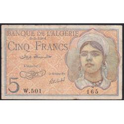 Algérie - Pick 94a - 5 francs - 08/02/1944 - Etat : TB-