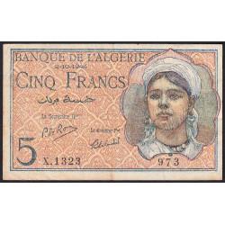 Algérie - Pick 94b - 5 francs - 02/10/1944 - Etat : TTB-