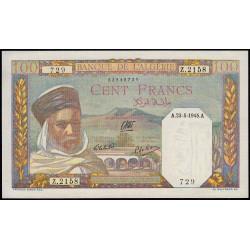 Algérie - Pick 85_2 - 100 francs - 1945 - Etat : SPL