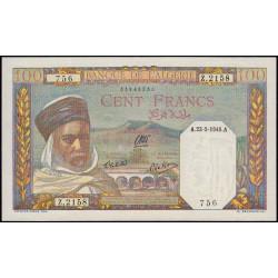 Algérie - Pick 85_2 - 100 francs - 23/05/1945 - Etat : pr.NEUF