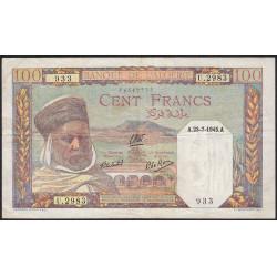 Algérie - Pick 85_2 - 100 francs - 23/07/1945 - Etat : TTB