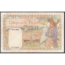 Algérie - Pick 87 - 50 francs - 29/11/1944 - Etat : B+