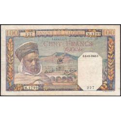 Algérie - Pick 88 - 100 francs - 02/111942 - Etat : TTB-