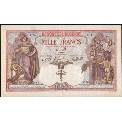 Algérie - Pick 83_1 - 1'000 francs - 18/09/1926 - Etat : TTB+