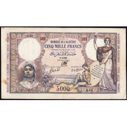Algérie - Pick 90 - 5'000 francs - 17/02/1942 - Etat : TTB-