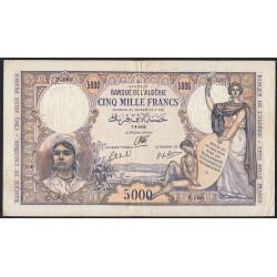 Algérie - Pick 90 - 5'000 francs - 1942 - Etat : TTB