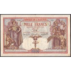 Algérie - Pick 83_1 - 1'000 francs - 17/08/1926 - Etat : TB