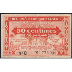 Algérie - Pick 97a - 50 centimes - Série C - 31/01/1944 - Etat : TTB-