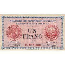 Annecy - Pirot 10-12 - 1 franc - 1917 - Etat : TTB+