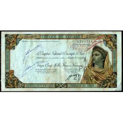 Maroc - Chèque de voyage - 25'000 francs - 14/06/1958 - Khouribga - Etat : TTB