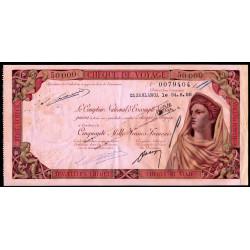 Maroc - Chèque de voyage - 50'000 francs - 24/06/1958 - Casablanca - Etat : TTB+