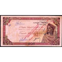 Algérie - Chèque de voyage - 50'000 francs - 1958 - Batna - Etat : SUP