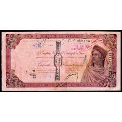 Algérie - Djidjelli - Chèque de voyage - 50'000 francs - 1958 - Etat : SUP