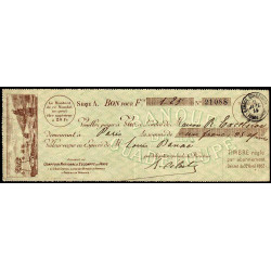 Guadeloupe - Mandat Banque de la Guadeloupe - 1,25 franc - 1914 - Etat : TTB