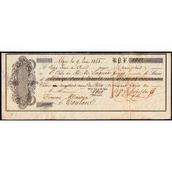 Algérie - Alger - Billet à ordre - 1'331 francs - 1852 - Etat : TTB