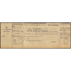 Tunisie - Chèque de l'Office des Postes et Télégraphe - 1920 - Etat : TTB+