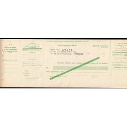 Tunisie - Chèque de l'Office des Postes et Télégraphe - 1920 - Etat : SUP