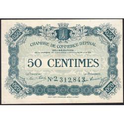 Epinal - Pirot 56-12b - 50 centimes - Chiffre 2 - 1921 - Etat : TTB+