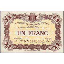 Epinal - Pirot 56-14 - 1 franc - Chiffre 3 - 1921 - Etat : NEUF