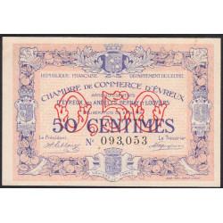 Evreux (Eure) - Pirot 57-2 - 50 centimes - 06/05/1916 - Etat : SPL