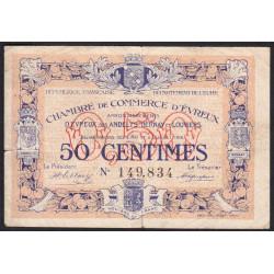 Evreux (Eure) - Pirot 57-8 - 50 centimes - 06/07/1916 - Etat : TB-