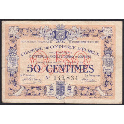 Evreux (Eure) - Pirot 57-8 - 50 centimes - 1916 - Etat : TB-
