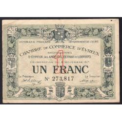 Evreux (Eure) - Pirot 57-12 - 1 franc - 1917 - Etat : TB