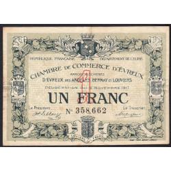 Evreux (Eure) - Pirot 57-12 - 1 franc - 08/11/1917 - Etat : TB