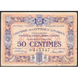 Evreux (Eure) - Pirot 57-13 - 50 centimes - 25/03/1919 - Etat : TB-