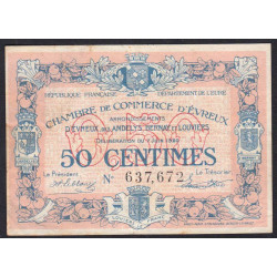 Evreux (Eure) - Pirot 57-16 - 50 centimes - 07/06/1920 - Etat : TB