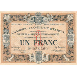 Evreux (Eure) - Pirot 57-01 - 1 franc - 1915 - Etat : TB+